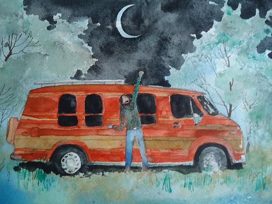 "The Van Makes the Man 9x12"""