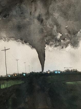 """Tornado Town Kansas 9x12"""""""