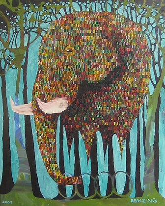 """RollerPhant in the Woods 24x30"""" print"""