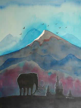 "Mammoth Mountain 9x12"""