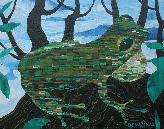 "Tree Frog 16x20"""