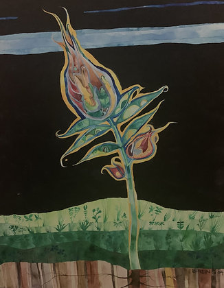 """Fire Flower 16x20"""""""
