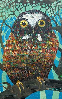 """Baby Saw Whey Owl 8x10"""" print"""