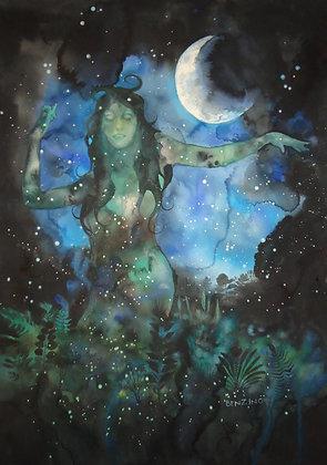 "Moon Goddess 24x30"""