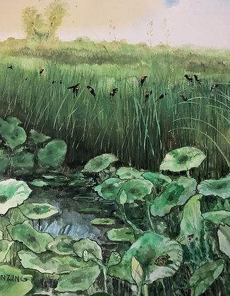 """Wetlands Kansas 12x16"""""""