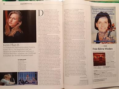 Interview mt DIE BÜHNE, Ausgabe März 2020