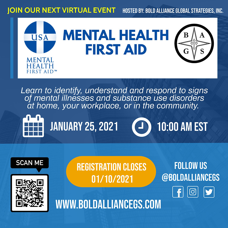 Mental Health First Aid Class 01.11.2021