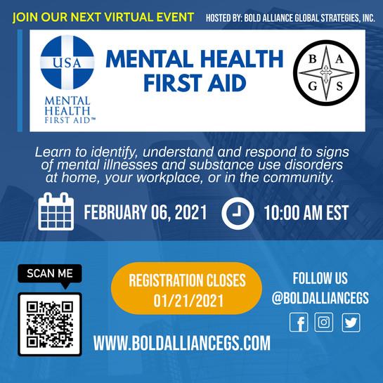Mental Health First Aid Class 01.25.21