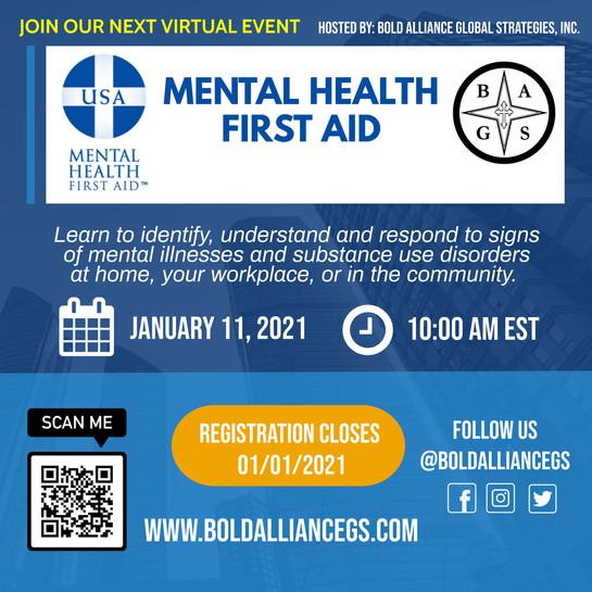 Mental Health First Aid Class 02.06.2021