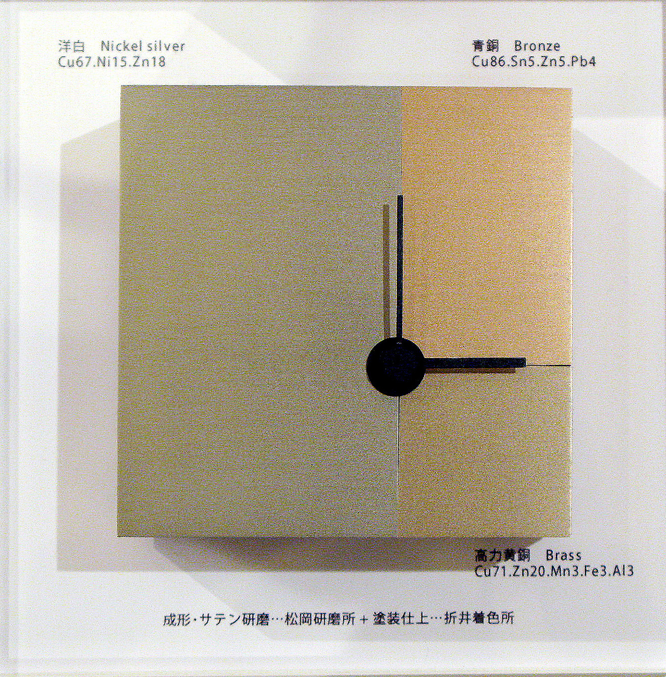 三種銅製置き時計_工程4