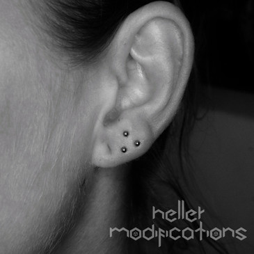 tripple Lobe Piercing