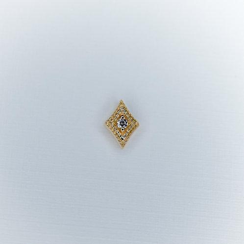 Diamond Double Millgrain