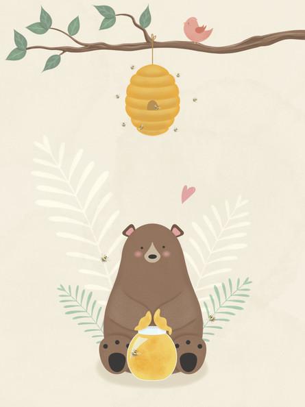 ILLUSTRATION   HONEY BEAR