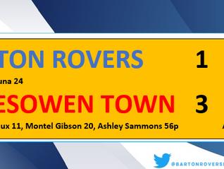 Ten men Rovers battle but beaten