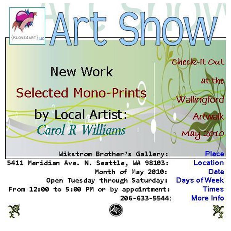 Monoprint Show 2010