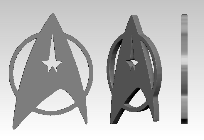 Star Trek Communicator Badge 01