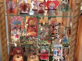 Montello Library has vintage Valentine display