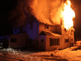 Fire breaks out at Town of Harris home