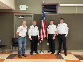 Village Fire Department officers are honored