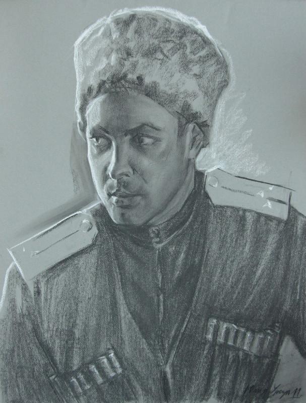 Мужской портрет в казачьей форме