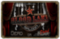 Logo BLOOD LAKE SALOON spectacle hallonween 2020 MANOIR MAUDIT maison hantée
