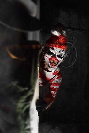 Monsterland Clown manoir maudit maison hantée affiche spectacle horrifique interactif vosges haunted attraction horror house france