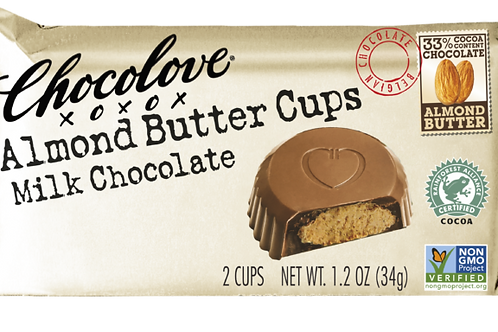 Chocolove - Almond Butter Milk Chocolate Cups; 1.2oz (