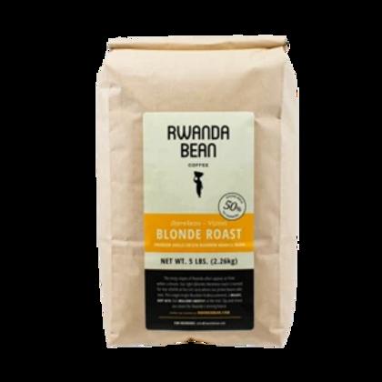 Rwanda Bean - bulk BLONDE Roast 5lb  (single bag)