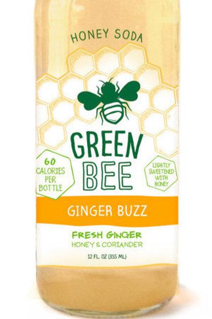 Green Bee Ginger Buzz Honey Soda 12oz (4 pack)