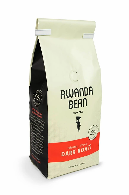 "Rwanda Bean -bold ISHEMA ""PROUD"" ROAST Coffee 12oz (single bag)"