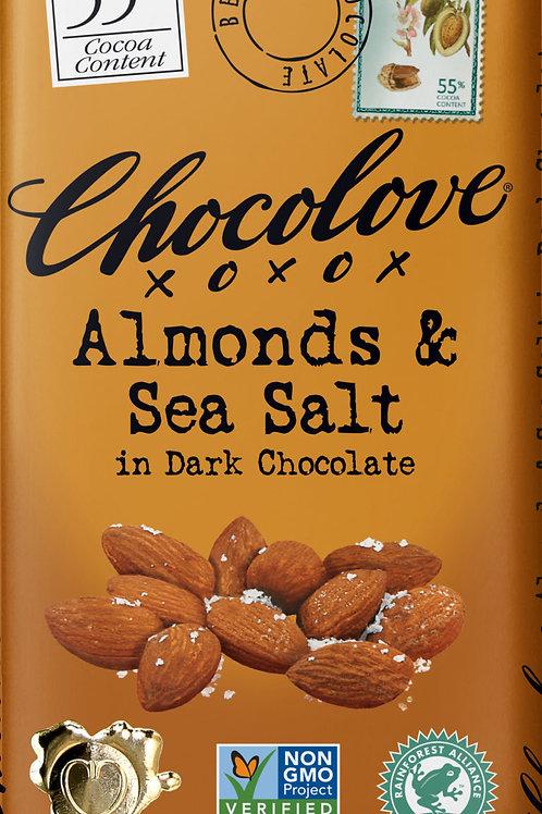 Chocolove - Almonds & Sea Salt Dark Chocolate Bar 3.2oz