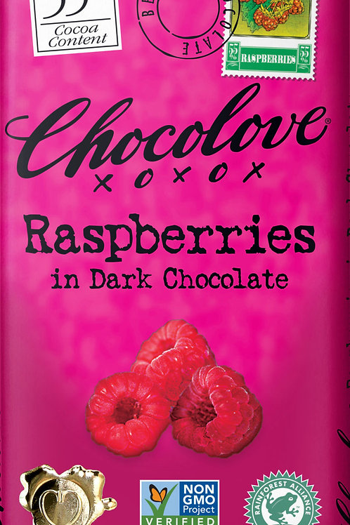 Chocolove - Raspberries Dark Chocolate Bar 3.1oz