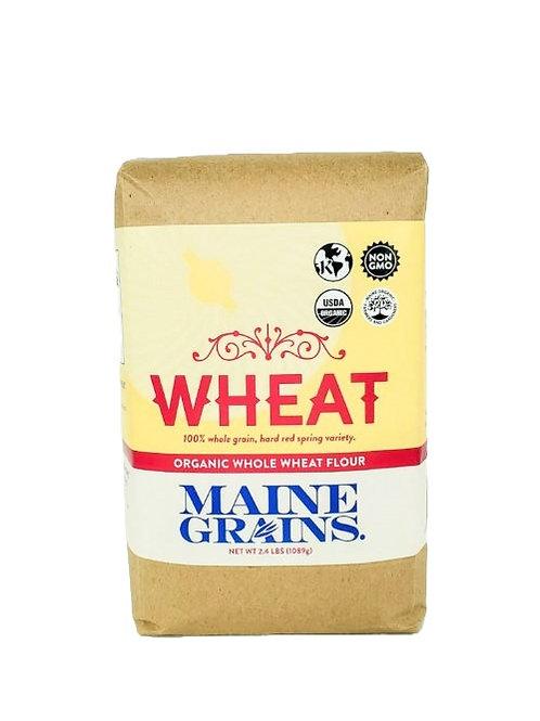 Maine Grains- Whole Wheat Flour 2.4lb Organic
