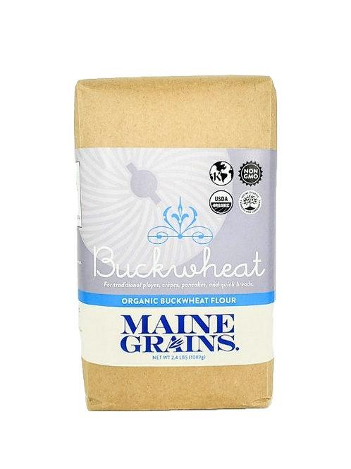 Maine Grains- Buckwheat Flour 2.4lb GF/Organic (6 Pack)
