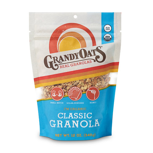 Grandy Oats Classic Granola Organic (12oz single bag)