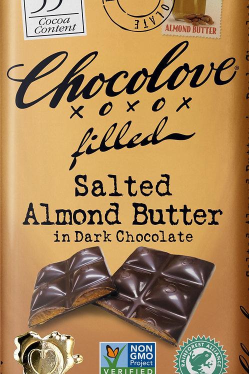 Chocolove - Salted Almond Butter Dark Chocolate Bar 3.2oz