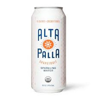 ALTA PALLA Grapefruit Sparkling Water 16oz (4 Pack)