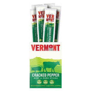 Vermont Smoke & Cure Cracked Pepper Sticks 1oz  (24pk)