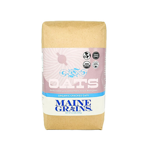 Maine Grains- Cracked Oats 2.4lb Organic