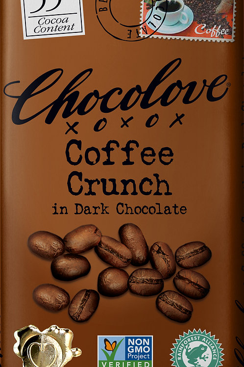 Chocolove - Coffee Crunch Dark Chocolate Bar 3.2oz