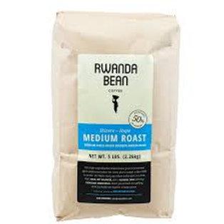 Rwanda Bean - bulk MEDIUM Roast 5lb  (single bag)