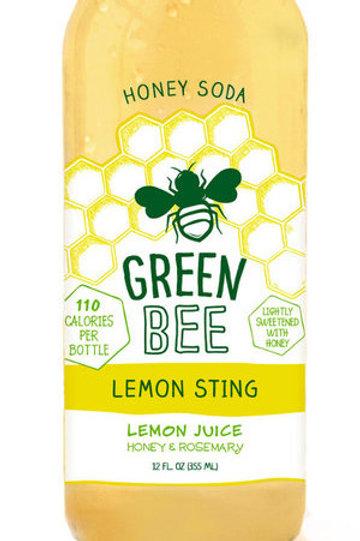 Green Bee Lemon Sting Honey Soda 12oz (4 Pack)