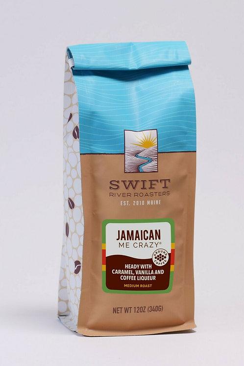 Swift River Roasters Jamaican Me Crazy Ground Coffee Med. Roast 12oz bag