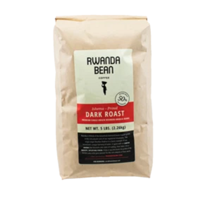 Rwanda Bean - bulk BOLD Roast 5lb  (single bag)