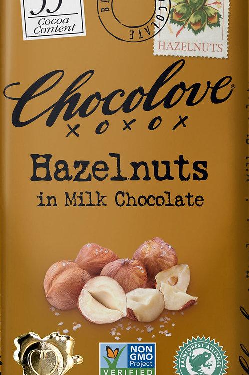 Chocolove - Hazelnut Milk Chocolate Bar 3.2oz