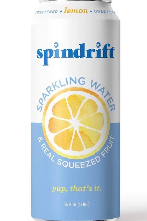 Spindrift Lemon Sparkling Water 16oz (12 pack)
