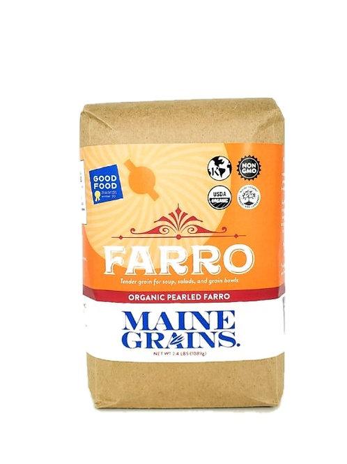 Maine Grains- Pearled Farro 2.4lb Organic