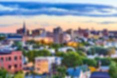 Portland, Maine, USA downtown skyline..j