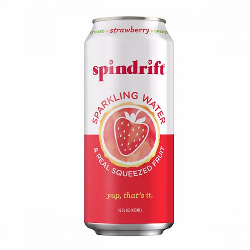 Spindrift Strawberry Sparkling Water 16oz (12 pack)