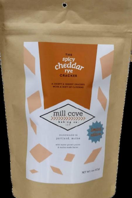 Mill Cove- The Spicy Cheddar Rye Cracker 4 oz bag